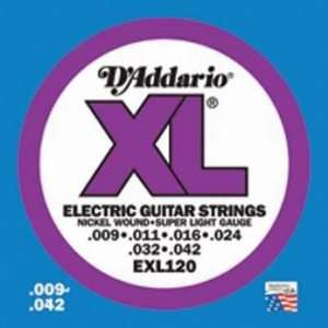 Guitar Strings EXL120   Super Light Gauge Musical Instruments