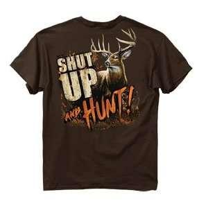 Buck Wear Inc Shut Up&Hunt Deer T Shirt Dark Chocolate 2x With Vibrant