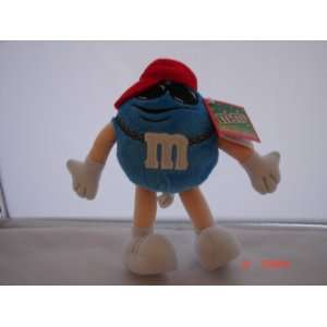 M&Ms Blue Hip Hop Player Plush Toy New with Tag 7 1/2