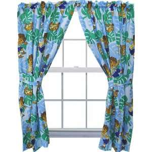 Go Diego Curtain Set   Animal Rescue Window Drapes Home & Kitchen