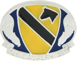 US Army 1st Cavalry Division Belt Buckle