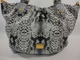 NEW MARC JACOBS SuperSonic Snake FRAN BlAcK WhItE Faux Leather Tote