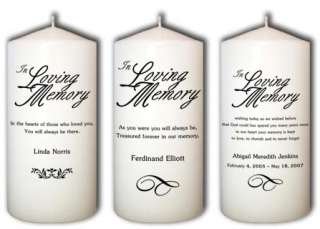 Personalized Custom In Loving Memory Candles from Goody Candles Photo
