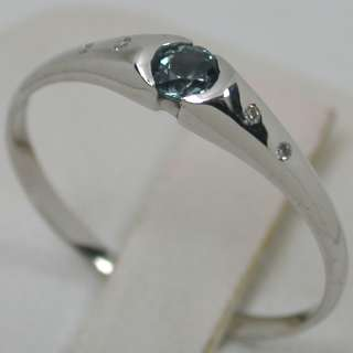 31 CARATS 14K SOLID WHITE GOLD NATURAL ALEXANDRITE SOLITAIRE DIAMOND