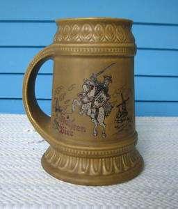 McCoy Pottery Large German Advertising Beer Stein Mug |