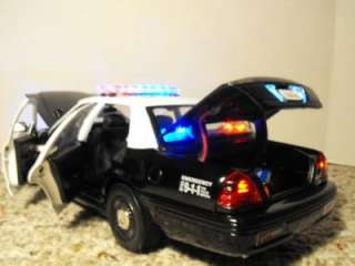 18 LAPD Police Car Lights Custom Model Ford Crown Vic Los Angeles