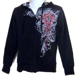 Utility Mens Hoodie Gothic Style Skulls Bloody Cross S