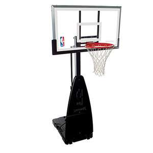 68454 NBA Tempered Glass 54 Inch Screw Jack Portable Basketball System