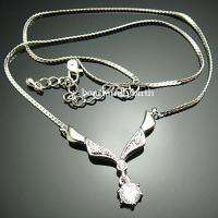 18K white gold Gp Swarovski Crystal fashion necklace 228