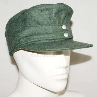 WWII GERMAN WH EM M43 PANZER WOOL FIELD CAP M  31733