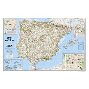 Spain and Portugal Wall Map (laminated) (9780792292685