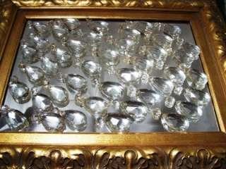 Antique Victorian Tear drop Cut Crystal Jewel Prism Chandelier Lamp