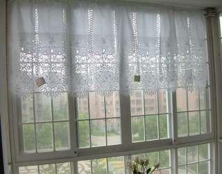 White Battenburg Lace Kitchen Curtain Valance 1pc New
