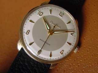 Vintage Bulova Mens Wrist Watch . Manual Wind . Cal. 11AFC