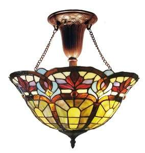 Victorian Hanging Stained Glass (Tiffany Style) Light