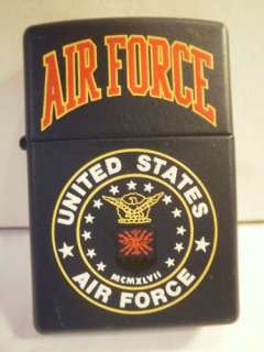 United States AIR FORCE ZIPPO LIGHTER New w/ Seal USAF