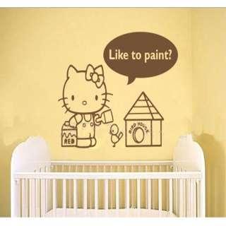 hello kitty cute wall sticker home decor painting 23 9x16