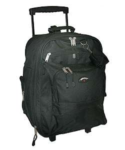 Verucci Flight Black Carry On Rolling Backpack