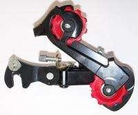 BLACK/RED TD ONE BICYCLE REAR DERAILLEUR MOUNTAIN BIKE PART 299