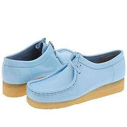 Clarks Wallabee   Womens Light Blue Patent Leather  Overstock