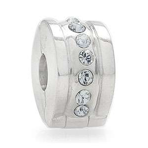 Nagara Crystal 925 Sterling Silver European Charms Bead Lock