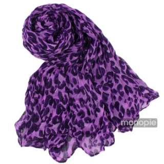 Fashion Leopard Soft Shawl Scarf Wrap Long Stole Animal Print
