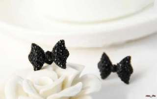 Rhinestone Crystal Bowknot Bow Tie Earrings Earring Free Ship