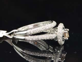 ROUND CUT CHOCOLATE BROWN DIAMOND ENGAGEMENT RING BRIDAL SET