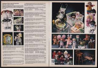 1985 CABBAGE PATCH KIDS & PREEMIE DOLLS W/ ACCESSORIES AD   2 PAGES
