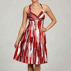 Calvin Klein Womens Abstract Printed Dress