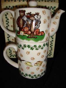 PAUL CARDEW~BOYDS BEARS 25TH ANNIV~TEAPOT FOR ONE~NEW