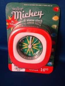 Sailor Mickey Mouse  2009 Alarm Travel Clock NEW
