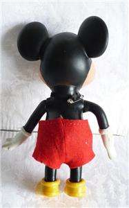 Vintage Rubber Mickey Mouse Figurine, Walt Disney