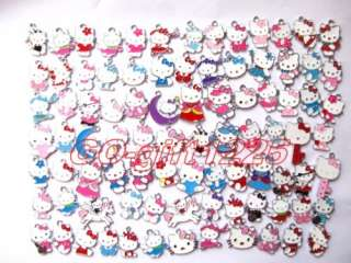 100 Pcs hello kitty Lovely Charm Metal Pendant jewelry Make