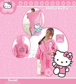 Girls Kids Sanrio Hello Kitty Pink Bath Robe M + Towel