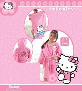 Girls Kids Sanrio Hello Kitty Pink Bath Robe M + Towel