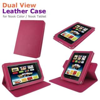 rooCASE Dual View Leather Case Cover for Nook Color Nook Tablet