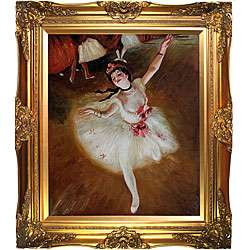 Degas Star Dancer on Stage Hand painted Oil Canvas Art