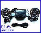 Motorcycle Audio System Handlebar FM Radio  Stereo Speakers