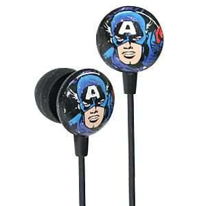 Earbud Style Marvel Comics Captain America Headphones Electronics