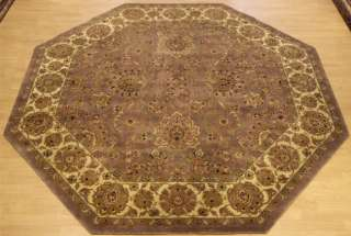 Beautiful Handmade Octagon Wool Carpet Agra Rug