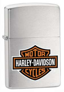 BRUSHED CHROME_ZIPPO HARLEY DAVIDSON LIGHTER_200HD.H252