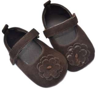 Dark brown bow Mary Jane kids toddler baby girl shoes size 1 2 3