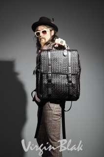vb HOMME Woven Leatherette Backpack BLACK, BROWN 4OT