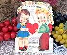 LARGE 11 X 8 VINTAGE VALENTINE CARDS STAND UP POSTCARDS