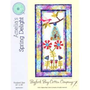 : Amelias Spring Delight quilt pattern, applique wall hanging quilt