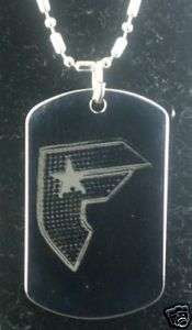 FAMOUS STARS AND STRAPS #1 DOG TAG PENDANT NECKLACE