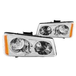 Anzo USA 111010 Chevrolet Avalanche/Silverado Crystal Chrome Headlight
