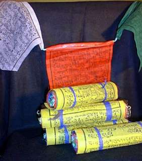 Windhorse Prayer Flags 6 Multicolor Roll 100% Cotton