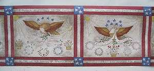 PATRIOTIC AMERICAN FLAG EAGLE STARS & STRIPES Wall Border 9